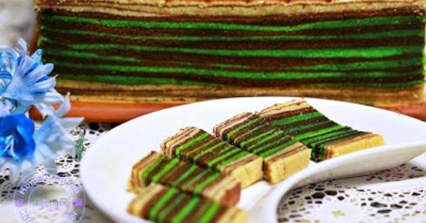 Kek Lapis Horlicks Coklat Pandan Sarawak Multi Flavored Layered Cake
