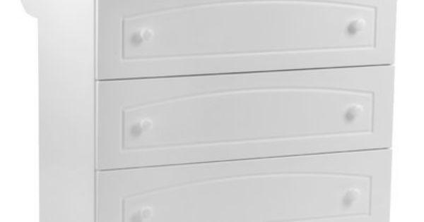 commode 3 tiroirs pal blanc sophie