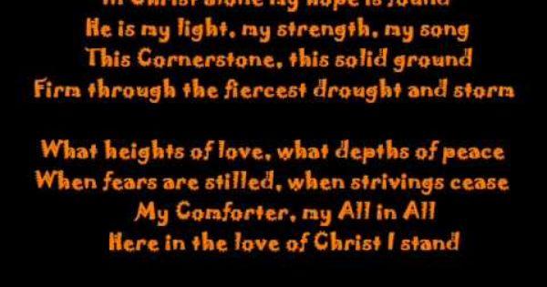 In Christ Alone Natalie Grant Lyrics In Christ Alone Me Me Me