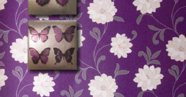 Lekker paars! Arthouse Plum Butterflies : bol.com #living : Wonen ...