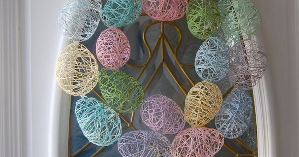 Easter Egg Wreath Tutorial - would be great in all white too.