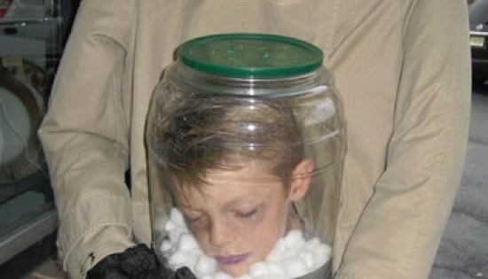 head in a jar costume
