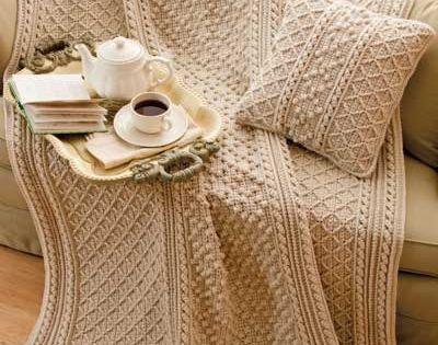 Irish Knit Style Afghan Amp Pillow Crochet Pattern Download