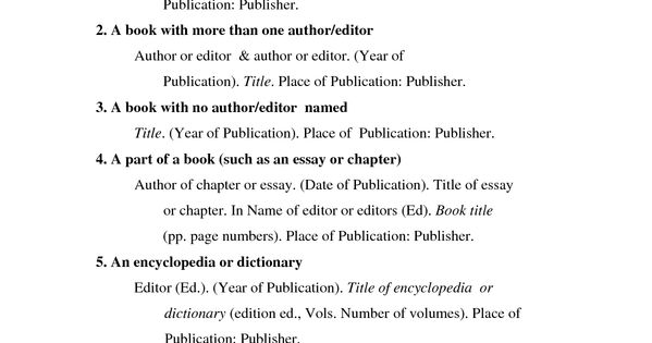 Work Cited Bib Using Apa Format In A Bibliographyworks