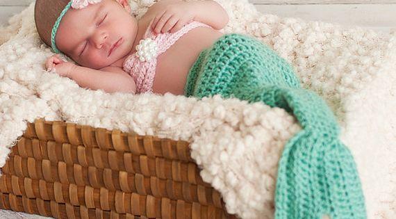 Baby mermaid photo prop. So cute!