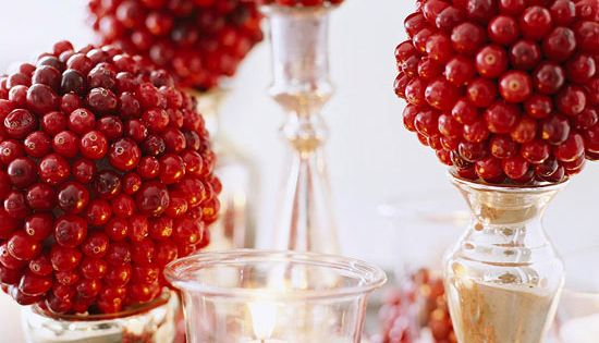 Christmas Cranberry Crafts | Cranberries, Topiaries and Centerpieces