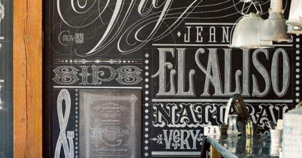 Large format chalkboard art underthesamesofa: (via Lunch at Eat.Drink.Americano. // Los Angeles)