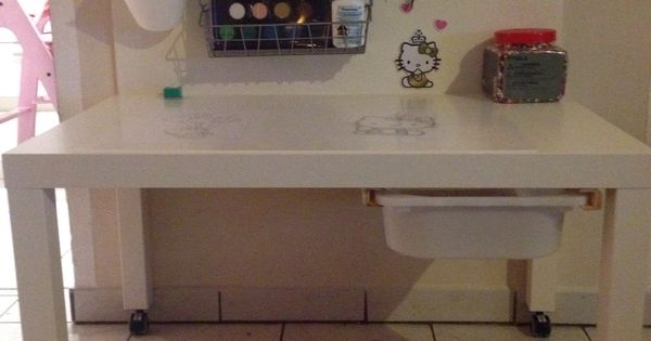 ikea hack lack bastel und maltisch f r kinder familie pinterest ikea hacks hacks und ikea. Black Bedroom Furniture Sets. Home Design Ideas