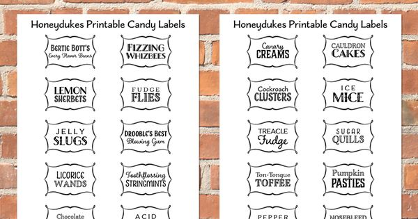 This is a graphic of Decisive Honeydukes Free Printable Labels