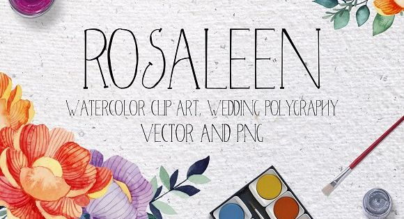 Rosaleen wedding invitation kit – Bright flowers and branches perfect for summer or spring wedding