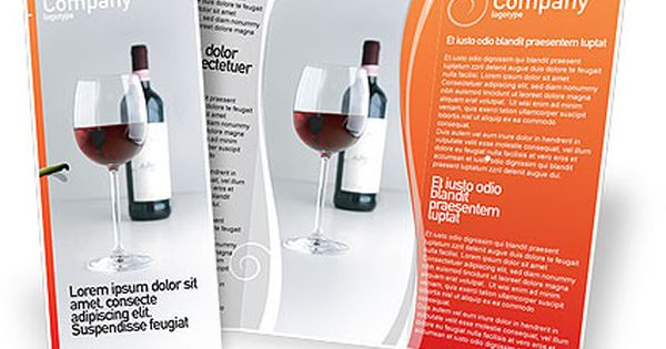 Brochure vino bottle of wine brochure template design for Wine brochure template