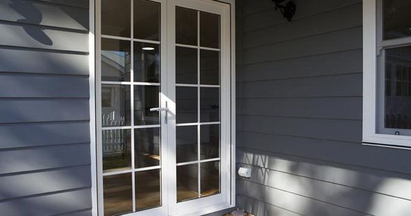 Strongbuild home builders external doors aluminium for Full glass french doors