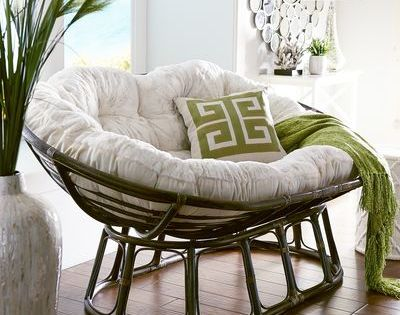 Papasan Double Chair Frame Brown For The Home