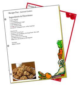 Binder Sized Free Recipe Card Templates Recipe Cards Template Recipe Book Templates Recipe Cards