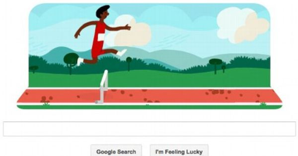 Google Doodle Olympic Hurdles If You Re Not At The London Games Google Doodles Doodles Doodles Games