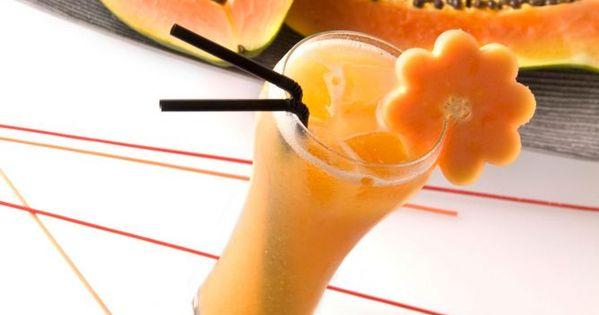C ctel shangai un c ctel sin alcohol con zumo de papaya y for Coctel con zumo de tomate