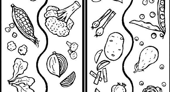 printable mix vegetables coloring sheets jpg 581 u00d7745