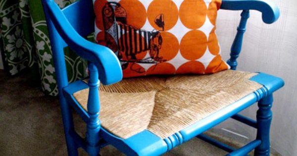 Blue chair (ladder back??)