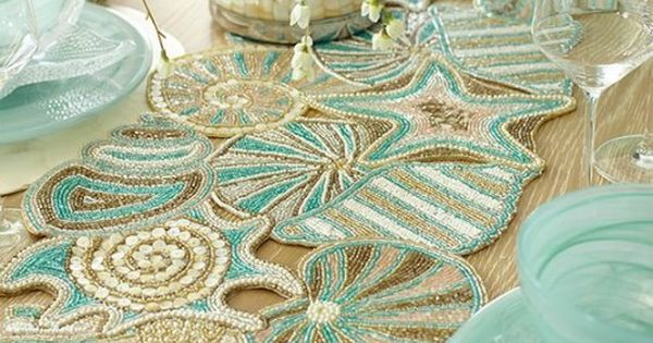 Pier 1 S Beaded Seashell Table Runner Now On Sale Http