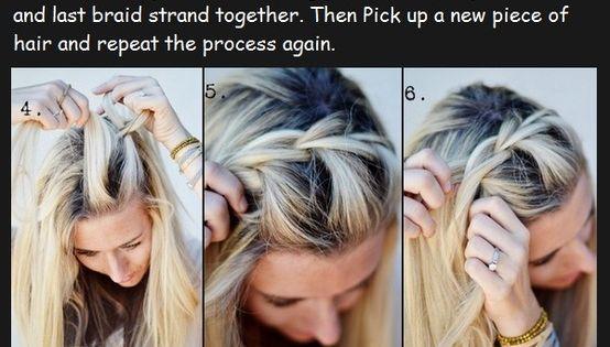 half up side braid tutorial!! looks really good!