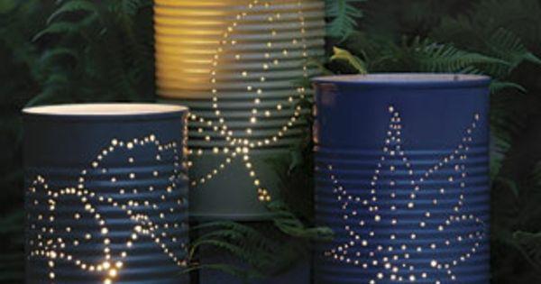 designer lampen selber machen in der nacht drau en viele gr ne pflanzen lampe selber. Black Bedroom Furniture Sets. Home Design Ideas
