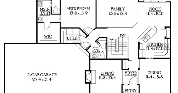 Ranch style open floor plans with basement home floors for Open ranch floor plans with basement