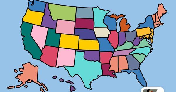 La Cartina Geografica Degli Stati Uniti.Mappa Geografica Degli Stati Uniti D America Mappa Geografia