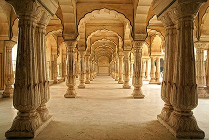 Mughal Pillars Jaipur Jaipur India Photo