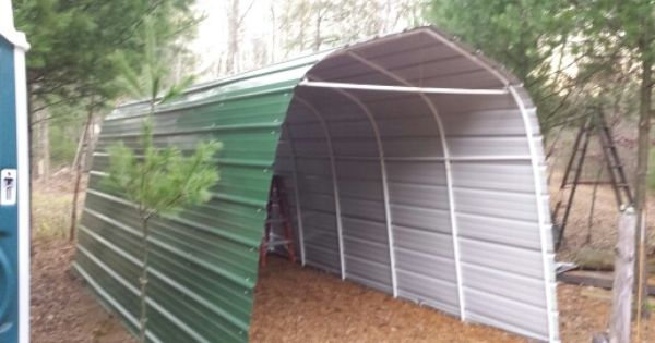 Steel Siding To Shelter Logic Storage Shed Replaced Canvas Twice Will Last Forever In Wi Steel Siding Storage Shed Shed