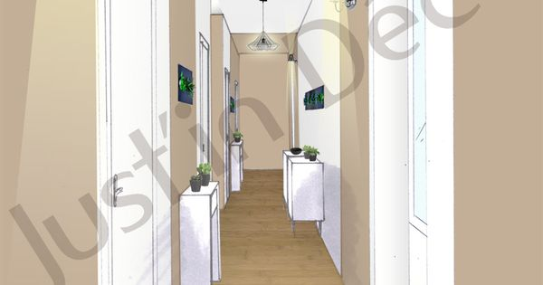 Vue Couloir Etage D 39 Une Bastide Au Bord De La Mer Rappel Du Caractere Ancien De La Maison Style