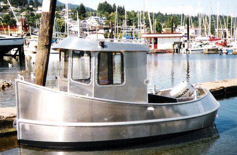 mini tug, mini tugboat, custom aluminum workboat, custom boatbuilding Gibsons BC British ...