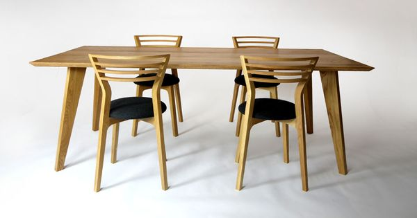 Fyra dining table hand crafted and shaped solid american for Unusual shaped dining tables