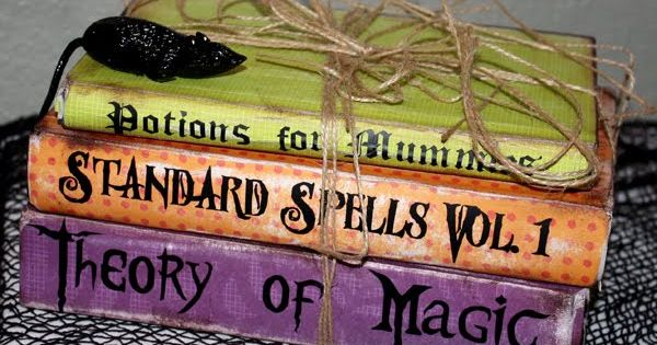 Halloween 2015 - Fun decoration..take old books and paint them
