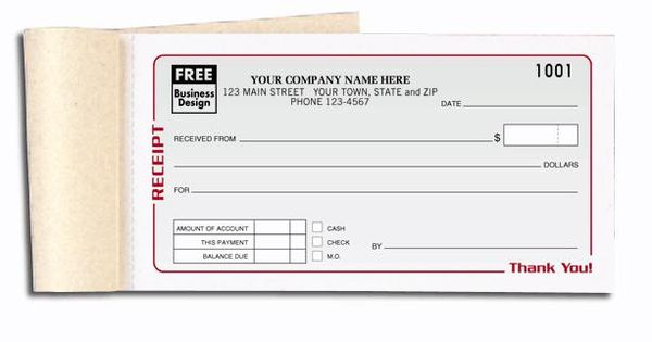 rent receipt sales book