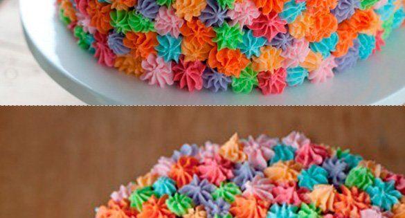 Easy rosette cake