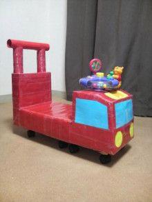 牛乳パックで手押し車 赤ちゃん 手作り プレゼント 牛乳パック 手作り おもちゃ 車