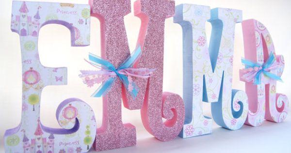 Baby Girl Letters Custom Name Wooden Nursery By