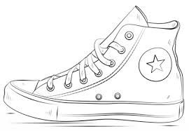 Afbeeldingsresultaat voor kleurplaat schoenen afbeelding