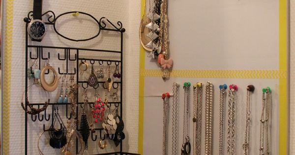 Necklaces organization rangement pour bijoux pinterest - Rangement bijoux fait maison ...