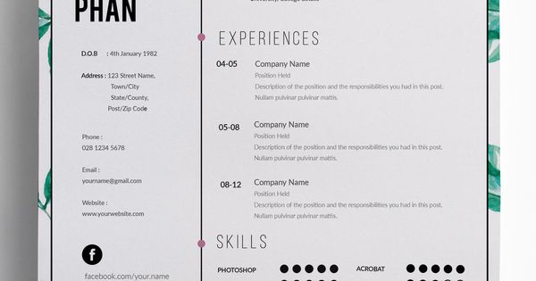 this chic clean professional and modern resume