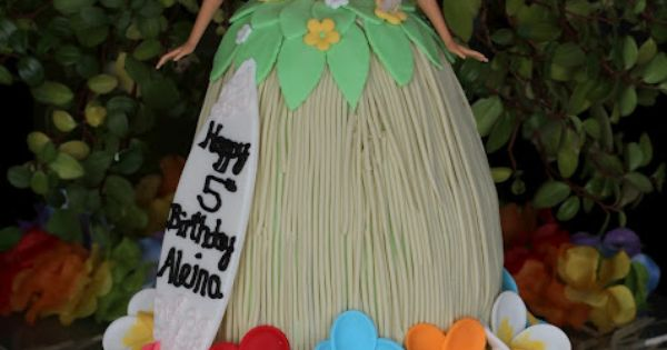 Barbie Luau Cake - this is the one Ella wants!