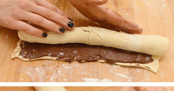 Easy Nutella Cinnamon Rolls (made with crescent dough!) dessert recipe sweet ideas