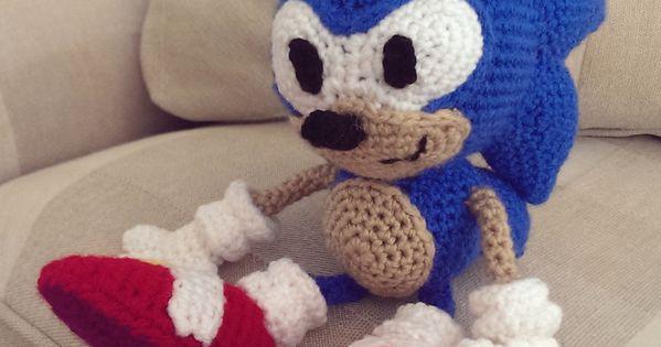 Baby Mario Amigurumi : Crocheted Sonic the Hedgehog crochet Pinterest ...