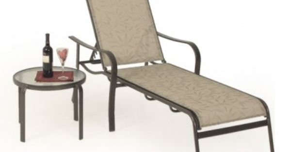 Cay sal sling chaise lounge bronze leaders for Bronze chaise lounge