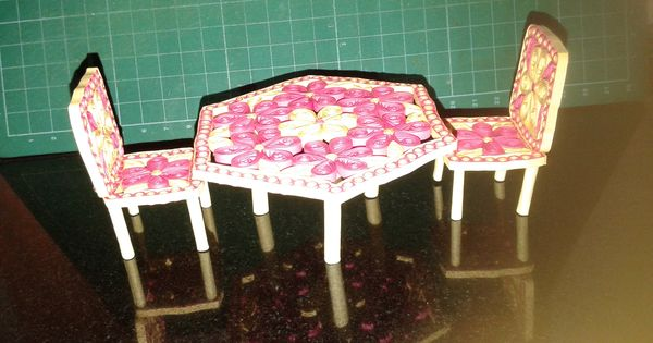 Quilling table and chair paper craft pinterest for Quilling kitchen set
