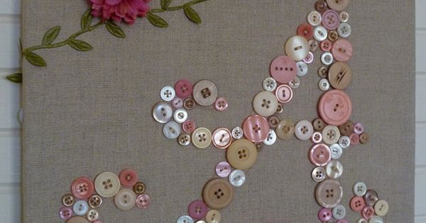 Baby Monogram Button Letter. I'm going to do this in a picture
