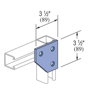 P1334 Gr Unistrut 3 Hole Corner Flat Plate Fitting Solar Energy Paper Wall Art Diy Power Installation