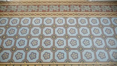 Antique French Floors Of Cement Tile
