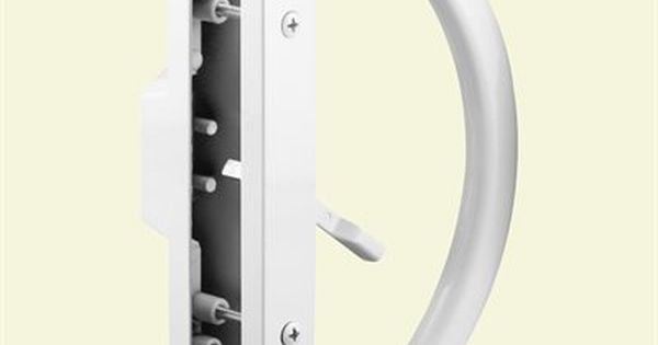 Mortise Style White Prime-Line Products C 1225 Sliding Door Handle