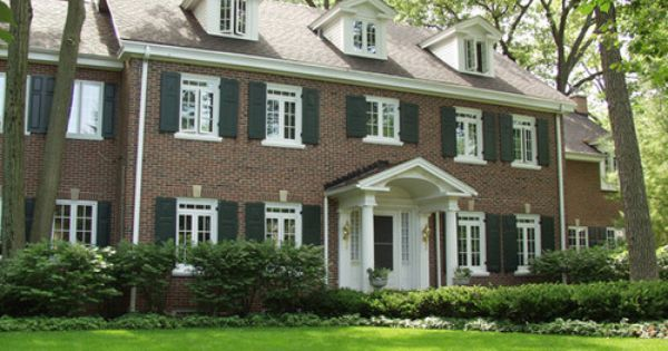 Traditional Exterior Traditional And Brick Design On Pinterest
